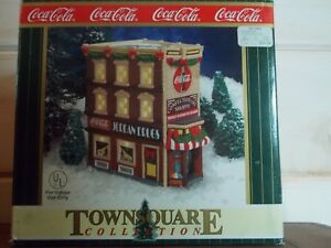Coca Cola Town Square Collection Jordan Drugs Confectionary Shoppe '99 Christmas