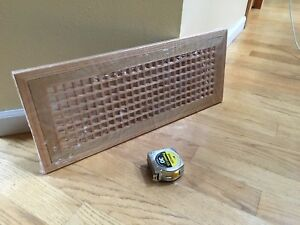 New Fretwook Egg Crate Flush Mount Red Oak Floor Grate Vent Finish Clear Satin