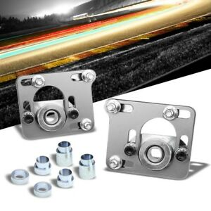 Aluminum Silver Front Adjustable 2 5 Camber Caster Plates For 94 04 Mustang
