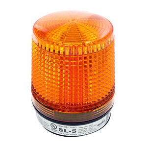 Amseco Sl 5 High Intensity Solid State Conical Strobe Light 24 vdc Amber