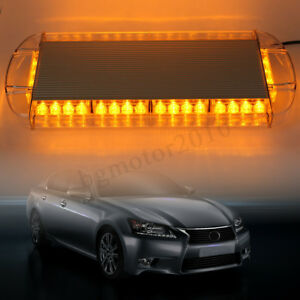 21 40 Led Strobe Light Emergency Beacon Warning Tow Truck Roof Top Yellow Amber