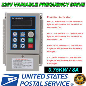0 75kw 220v 5a Variable Frequency Drive Inverter 1hp Vfd Us Stock