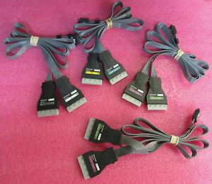 Lot Of 4 Tektronix P6434 Mass Termination Probes C D E Cables