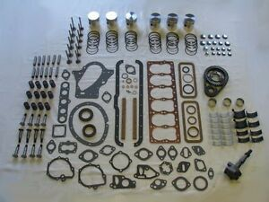Deluxe Engine Rebuild Kit 1942 1948 Plymouth 218 Pistons Lifters Valves