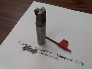 3 4 90 Degree Indexable End Mill 3 4 x3 1 2 3 Inserts Sandvik R390 506 sdvk