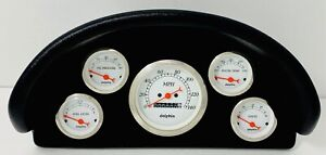 1956 Ford Truck Abs Dash Panel 5 Gauge Mechanical White