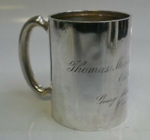 Antique Shreve Crump Low Sterling Silver Mug