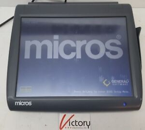Used Micros Workstation 5 System Unit 400814 001 touch Screen w windows v 05