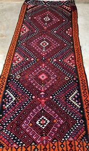 Boho Vintage Hand Knotted Wool Persian Rugs Anatolian Turkish Carpet Runner Rug