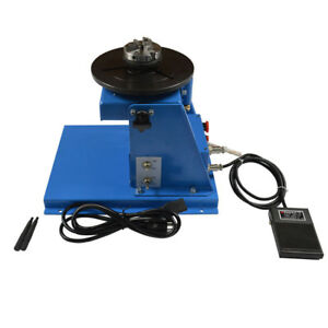 Brand New 110v Welding Positioner Turntable With 65mm Chuck Foot Switch