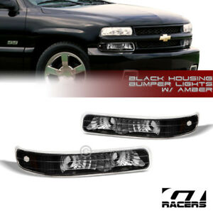 For 2000 2006 Suburban Tahoe Black Amber Parking Signal Bumper Lights Lamps Dy