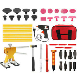 Car Hail Paintless Dent Pdr Repair Tools Slide Hammer Puller Kit With Red Shovel