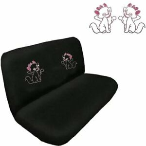 Cute Kitty W Pink Bow Crystal Studded Rhinestone Bench Seat Cover