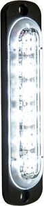 Buyers 8891911 6 Led Clear Vertical Low Profile Strobe Light Surface Mount