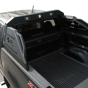 For Chevy Colorado 14 18 Alpha Black Truck Bed Bar W Led Lights