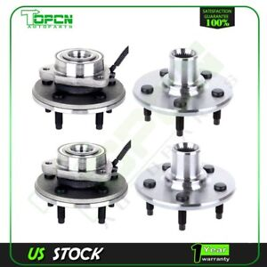 4 Pcs Front Rear Wheel Hub And Bearing Assembly For Ford Explorer 2002 2005
