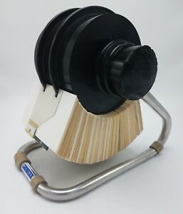 Zephyr American Rolodex 3x5 Open Rotary Card File W Cards Tabs Model 3502x