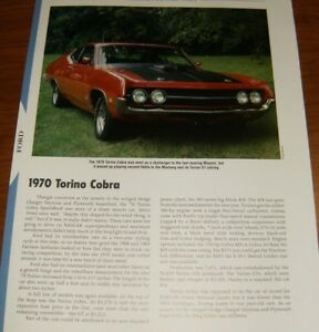 1970 Ford Torino Cobra Specs Info Photo 70 429 Cj Cobra Jet