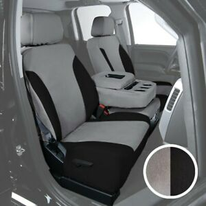 For Chevy Tahoe 96 99 Saddleman Canvas 1st Row Gray W Black Custom Seat Covers
