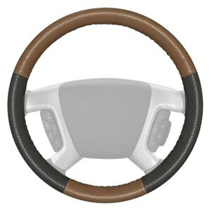 Wheelskins Europerf Perforated Oak Steering Wheel Cover W Charcoal Sides Color