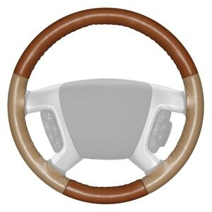 For Audi Q5 14 Eurotone Two color Tan Steering Wheel Cover W Sand Sides Color