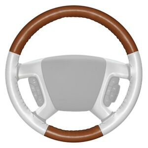 For Audi Q5 14 Eurotone Two color Tan Steering Wheel Cover W White Sides Color