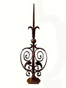 Architectural 3d Ornate Finial Wrought Iron Steel