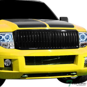 Topline For 2007 2014 Ford Expedition Vertical Front Hood Bumper Grille Black