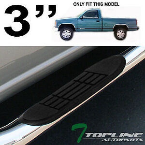 Topline For 88 00 Chevy gmc C10 Truck Regular Cab 3 Side Step Bars Stainless