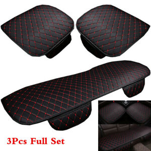 Universal Car Seat Cover Pu Leather Full Set Seat Pad Mat For Auto Chair Cushion