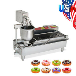 110v 220v Commercial Automatic Electric Donut Making Machine Donut Fryer 7l