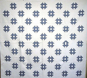 Classic Blue And White Antique Quilt Great Quilting Astonishing