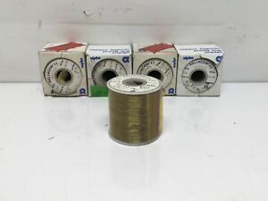 Lot Of 5 One Pound Rolls Solder Sn60 0 015 Diameter