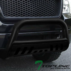 Topline For 2009 2018 Dodge Ram 1500 Classic Bull Bar Bumper Guard Matte Black