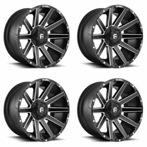 Set 4 22 Fuel Contra D616 Matte Black Wheels 22x10 8x170 18mm Lifted Ford F350