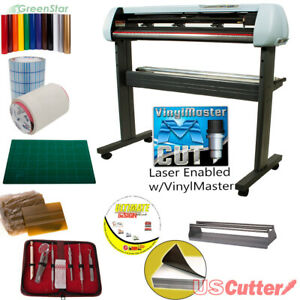 34 Vinyl Cutter Bundle Sign Cutting Plotter W vinylmaster Cut Design