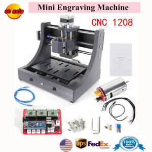 Mini 3 Axis 1208 Cnc Router Engraver Machine Desktop 3d Wood Pcb Milling Us