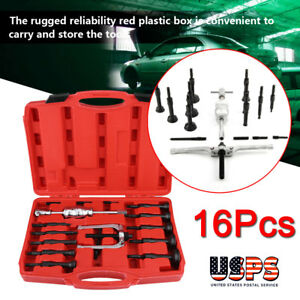 16x Inner Bearing Races Blind Hole Gear Bushes Extractor Puller Separator Set