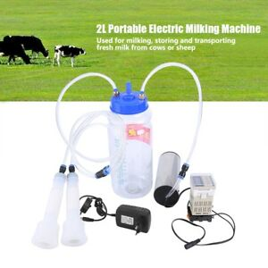 Portable 2l Electric Milking Machine With Pulse Controller For Goat Cow Sheep Us