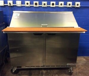 Beverage air Spe48hc 18m 48 2 door Refrigerated Sandwich Prep Station