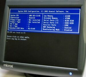 Micros Workstation 5 400814 020 Pos Touchscreen System Unit Terminal Cf Card