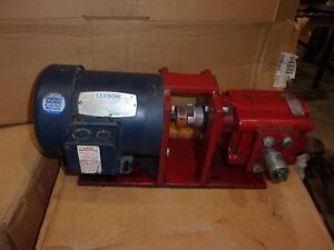 Commercial Hydraulic Pump C230 7 With Leeson 1 3 Hp Motor