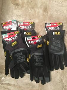 5 Pairs Fast Fit Mechanix Gloves 1 Lg 4 X Large Free Shipping New