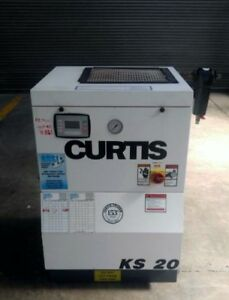 Curtis Ks 20 Hp Screw Air Compressor 125 Psi 79 Cfm Low Hours Fully Tested