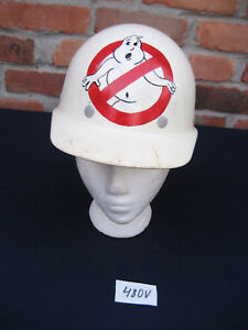 No ghost Ghostbusters White Fibre metal Superglas Construction Hard Hat Helmet