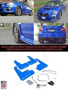 Rally Armor Ur Series Blue Mud Flaps W White Logo For 2015 2020 Wrx