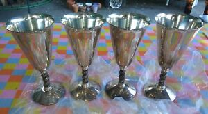 Lot Of 4 E P B Mos Silver Goblets Made In Spain 7