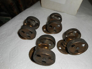 4 Vintage Cast Iron Double Wheel Furniture Industrial Casters Rollers 1 5 8