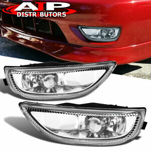 2001 2002 Toyota Corolla Clear Driving Front Bumper Fog Lights Lamps Pair 01 02