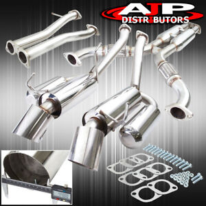 Hi Power Dual Catback Exhaust System With Y Pipe For 2003 2007 Nissan 350z G35